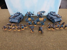 33 x Well Painted GW W40K Chaos Space Marines Army wih Hell Brutes and Predators