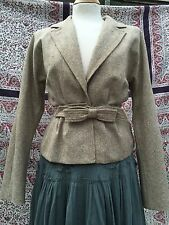 Gorgeous Nina Ricci Vintage Tweed Wool Silk Lined Fitted Waist Jacket. 8/10/36