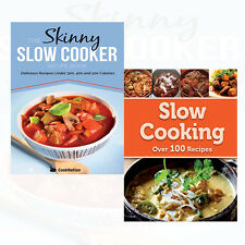 Skinny Slow Cooker Recipe Book 2 Books Collection Set Cook's Choice Slow Cooking