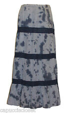 NEW Michael Kors Womens Maxi Skirt Tie Dye Crochet Indigo Navy Blue Sz XL $99.50