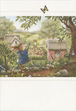 Bunny Chasing Butterfly - Holly Pond Hill Encouragement Card