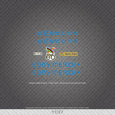 01137 Eddy Merckx Bicycle Stickers - Decals - Transfers - Blue With Silver Key