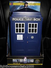 Doctor Who Tardis Blue Lights Sounds Effect Police Box Tardis Cookie Jar BBC !