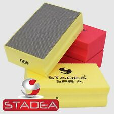 Diamond Hand Pads Stadea For Glass Stone Marble Polishing Marble Block Grit 400