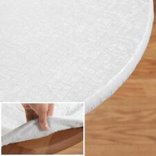 """Elasticized Quilted Vinyl Table Pad 52"""" x 70"""" Oval Dining Kitchen Tabletop X-1"""