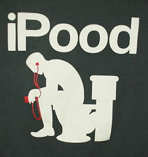 iPood Humorous Toilet Humor Bathroom Parody Men's Large Novelty T-Shirt Green