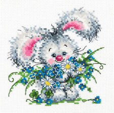 Cross Stitch Kit Happy birthday (bunny)