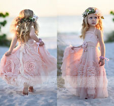 Pink Ball Gown Flower Girl Dresses Ruffles Tutu 2017 Vintage Little Baby Gowns