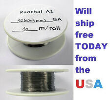Kanthal 32 AWG 0.2032mm A-1 Wire 100ft Roll (30 meters) 13.1 Ohms/ft Resistance