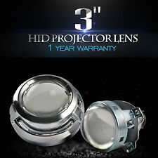 "3.0"" Mini HID Bi-Xenon Projector Lens for H1 Bulb Car Gift:Chrome Shroud H4 H7"