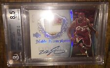 2005-06 EXQUISITE NOBLE NAMEPLATES BGS 8.5/10 Lebron James Auto Patch /25