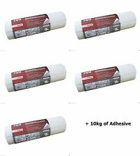 5 x Erfurt Red Label Thick Insulation Lining Paper 10mx50cm 2mm + 10kg Adhesive