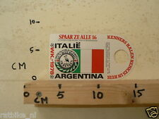 STICKER,DECAL WK ARGENTINA 1978 VOETBAL,SOCCER JH HENKES ITALIE ITALY