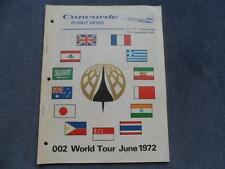 BAC /Aerospatiale Concorde Flight News 002 World Tour June 1972 Original Rare