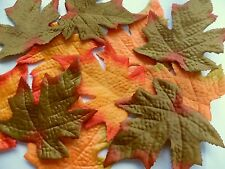 18 Artificial silk Fabric Autumn Maple Leaves 3Assorted colours craft decoration