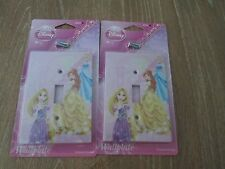 Disney Princesses Wall Plate Electric Light Switch Cover W/ Screws - LOT OF 2