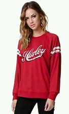 Hurley Sweatshirt Fleece Buzz Tower Crew Pullover in Burgundy Women's M Medium