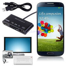 5in1 Micro USB MHL to HDMI HDTV TV Adapter OTG SD TF M2 Card Reader for Samsung