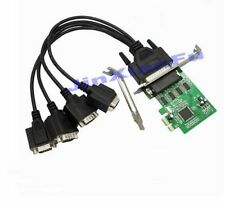 PCI-e Express to 4 Serial RS-232 COM DB9 port with fan out cable+Low bracket