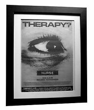 THERAPY+Nurse+Teethgrinder+ORIGINAL+POSTER+AD+FRAMED+1992+FAST GLOBAL SHIPPING