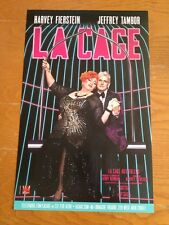 LA CAGE AUX FOLLES Window Card HARVEY FIERSTEIN & JEFFREY TAMBOR [TRANSPARENT]