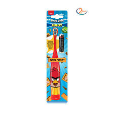 2 Pk - Angry Birds by Firefly Turbo Power Soft HeadBattery Operated Toothbrushes