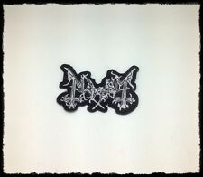 New Mayhem Sew Iron On Patch Embroidered Heavy Black Metal Rock Band Music Logo