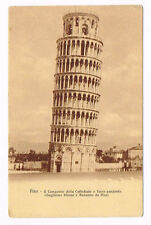 Vintage Postcard Italy 1910 ca. PISA TUSCANY CAMPANILE TORRE PENDENTE TOSCANA