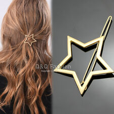 Blogger Gold Shooting Star Cut Out Hair Pin Clip Dress Snap Barrette Hen Party W