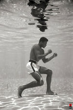 MUHAMMAD ALI UNDER WATER 24x36 poster SONNY LISTON BOXING ICON CASSIUS CLAY NEW!