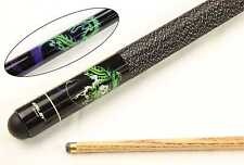 Riley Black Dragon 8 Ball Ash 2 PEZZI Pool Snooker Cue Punta - 9.5mm