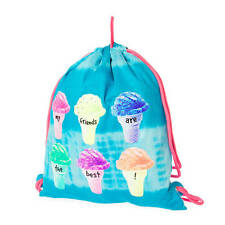 My Friends Are the Best Ice Cream Cone Reversible Drawstring Bag Bookbag NWT