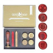 UNIQOOO Hogwarts School Ministry of Magic&4 Houses Wax Seal Stamp Kit Collection
