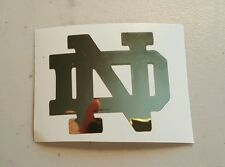 Notre Dame Fighting Irish ND 3.5 inch gold mirror decal fire helmet sticker yeti