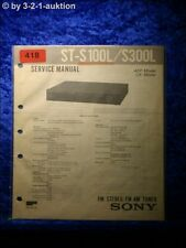 Sony Service Manual ST S100L / S300L Tuner (#0418)