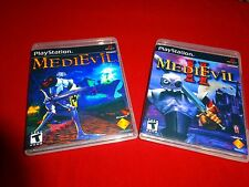 EMPTY Replacement Cases !!  MEDIEVIL I  II 1 2 Sony Playstation 1 PS1 PSX