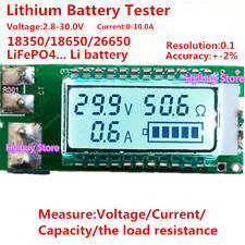 Lithium Li-ion battery tester LCD meter Voltage/Current/Capacity/ 18650 26650