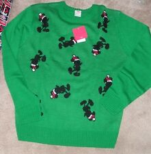 NEW DISNEY Christmas Holiday Mickey Mouse Dress Casual Sweater Men L Large NEW N