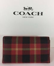 NWT MEN'S COACH UNIVERSAL PHONE CASE, IPHONE 6, WALLET F55432 Black/Red $125