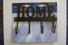 "Decorative Home Key Hook Hanger Rack Holder Wall Decor 4-1/2""X3"""