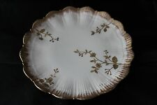 Antique Redon Limoges Porcelain 9 Inch Plate White with Gold Gilding