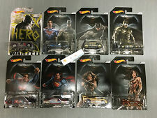 Hot Wheels * BATMAN vs SUPERMAN Dawn Justice Complete Set of 8 w/ CHASE CAR  C40