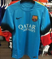 Team FC Barcelona Authentic Light Blue Top Jersey Royal Soccer XX-Large Football
