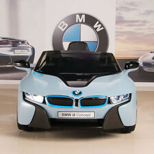BMW i8 12V Ride On Kids Battery Power Wheels Car RC Remote Blue