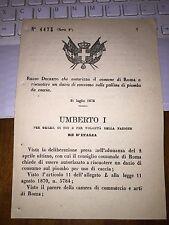 REGIO DECRETO AUT COMUNE ROMA RISC DAZIO DI CONSUMO PALLINE PIOMBO DA CACCIA