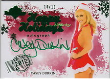 2012 BENCHWARMER HOLIDAY BONUS AUTO:CASEY DURKIN #10/10 AIR MAIL GREEN AUTOGRAPH
