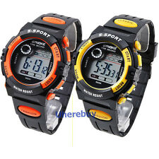 2PCS Multifunction Waterproof Child/Boy's Sports Electronic Watches Watch