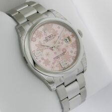 Rolex Datejust 36mm Stainless Steel 116200 Pink Floral Oyster Retail: $6600