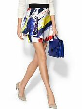 MILLY $275 GRAFFITI PRINT DRAPE SKIRT  4
