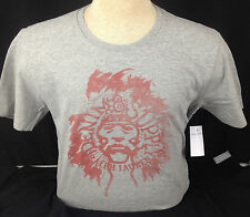 Denim and Supply Ralph Lauren T Shirt Medium Indian Chief Gray Red Mens Cotton